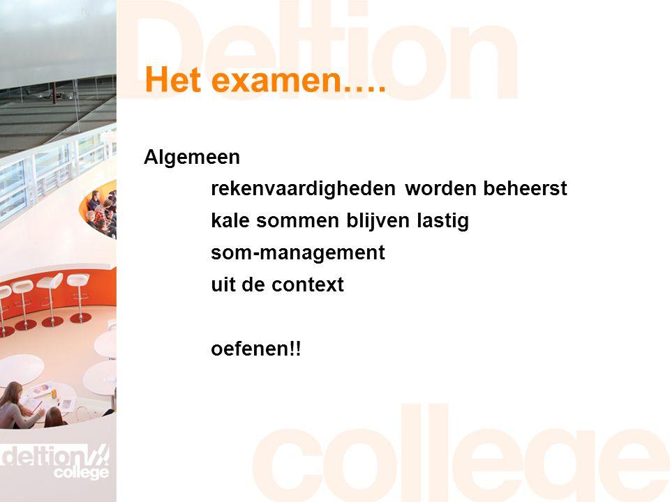 Het examen….