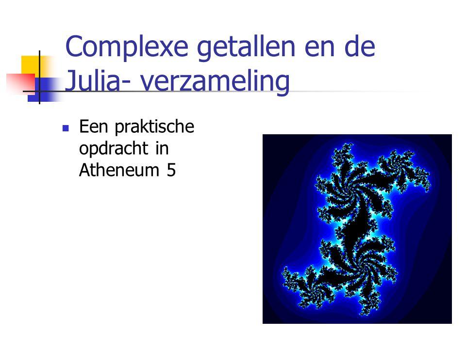 Complexe getallen en de Julia- verzameling Een praktische opdracht in Atheneum 5