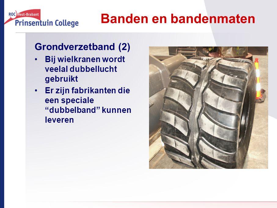 """Banden en bandenmaten Grondverzetband (2) Bij wielkranen wordt veelal dubbellucht gebruikt Er zijn fabrikanten die een speciale """"dubbelband"""" kunnen le"""