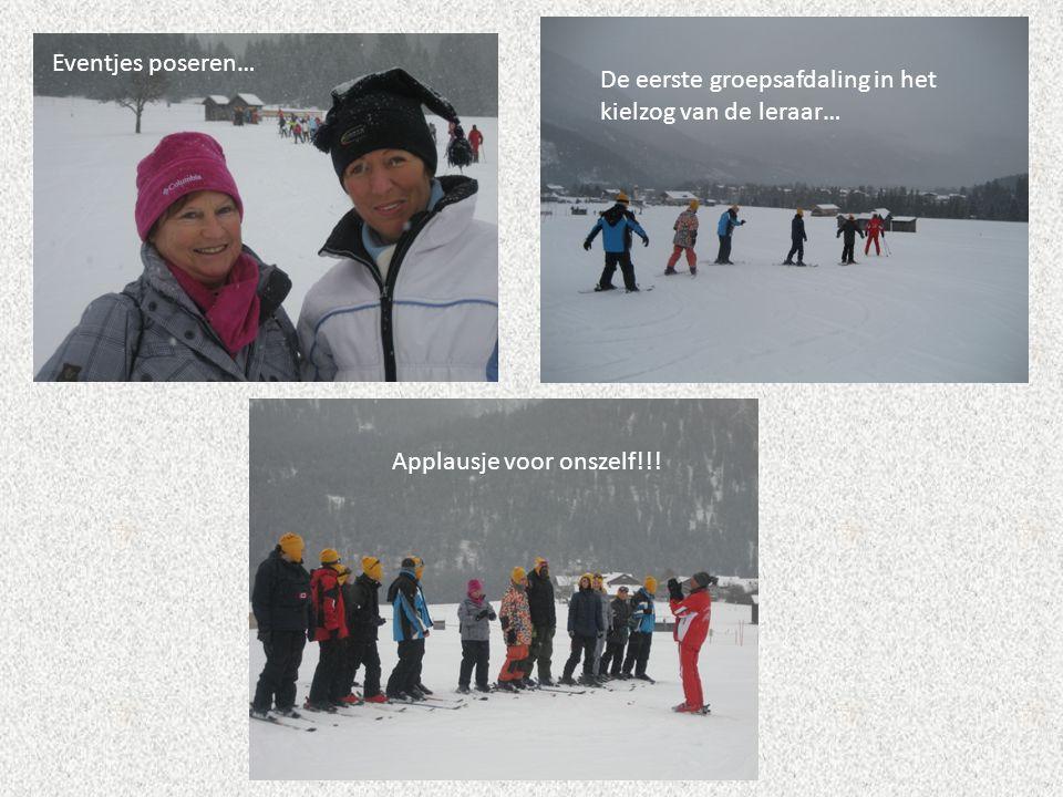 Eventjes poseren… De eerste groepsafdaling in het kielzog van de leraar… Applausje voor onszelf!!!