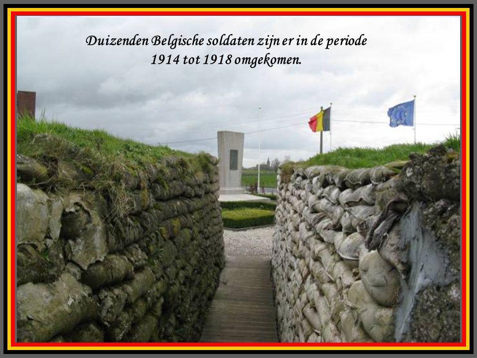 Duizenden Belgische soldaten zijn er in de periode 1914 tot 1918 omgekomen.