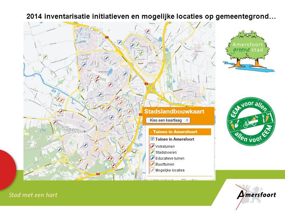2014 inventarisatie initiatieven en mogelijke locaties op gemeentegrond…