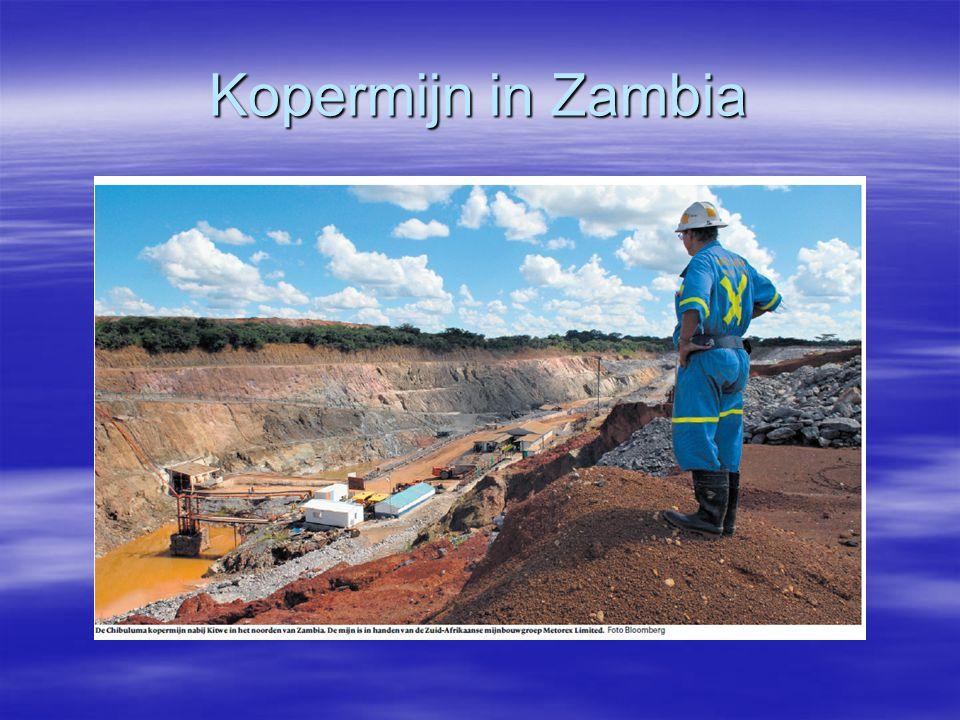 Kopermijn in Zambia