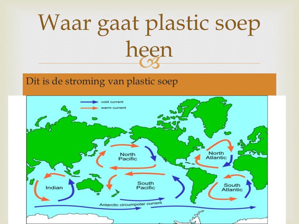  Dit is de stroming van plastic soep Waar gaat plastic soep heen
