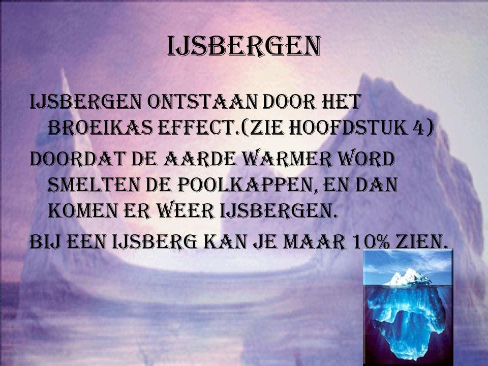 De poolkappen Hoofdstuk 1: ijsbergen Hoofdstuk 2:wat zijn poolkappen.