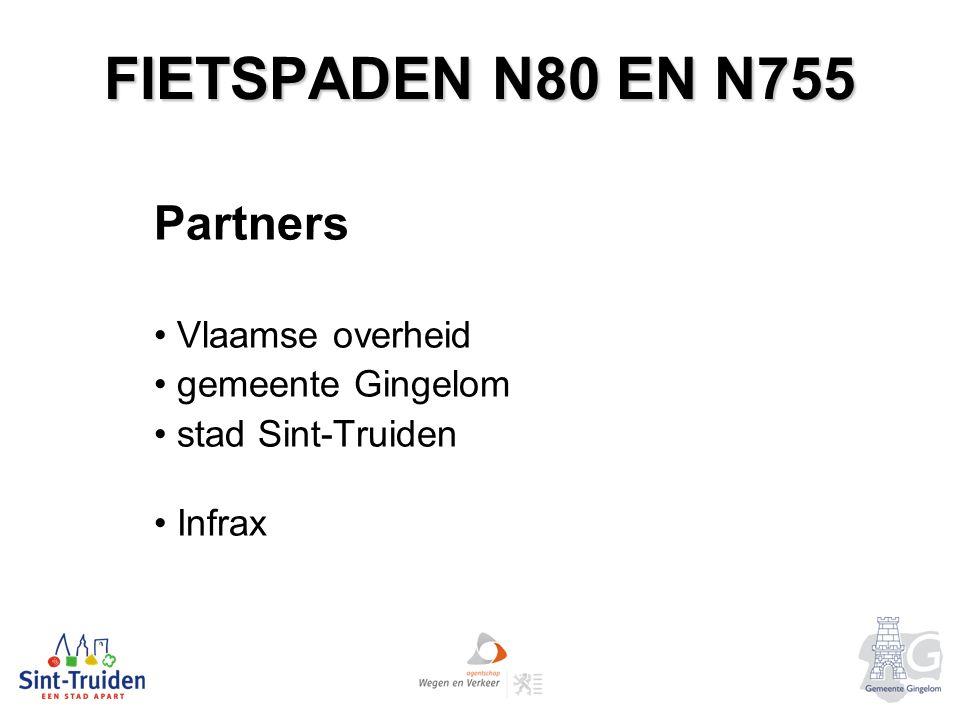 FIETSPADEN N80 EN N755 Partners Vlaamse overheid gemeente Gingelom stad Sint-Truiden Infrax