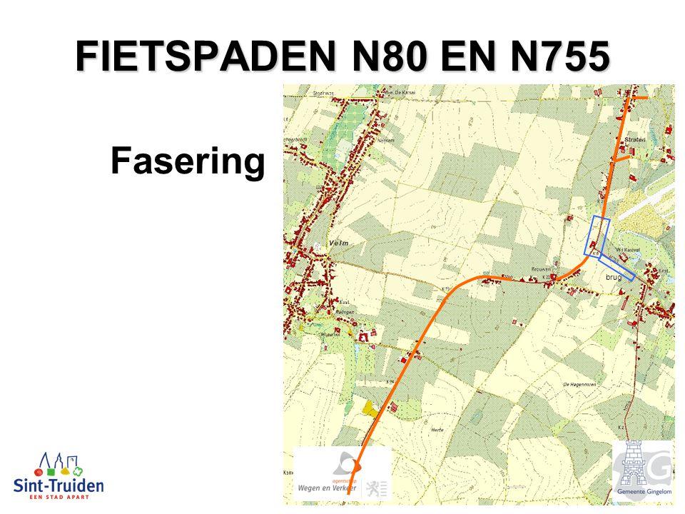 FIETSPADEN N80 EN N755 Fasering brug