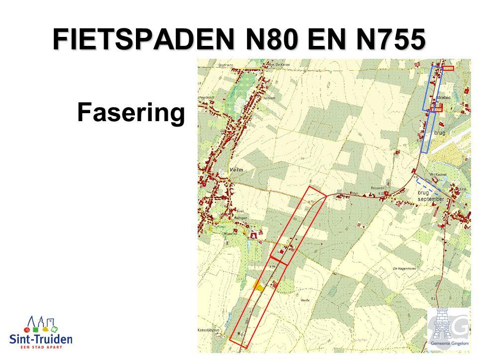FIETSPADEN N80 EN N755 Fasering brug september