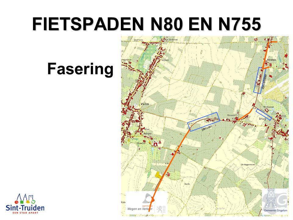 FIETSPADEN N80 EN N755 Fasering brug december januari