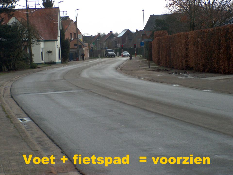 Voet + fietspad = voorzien