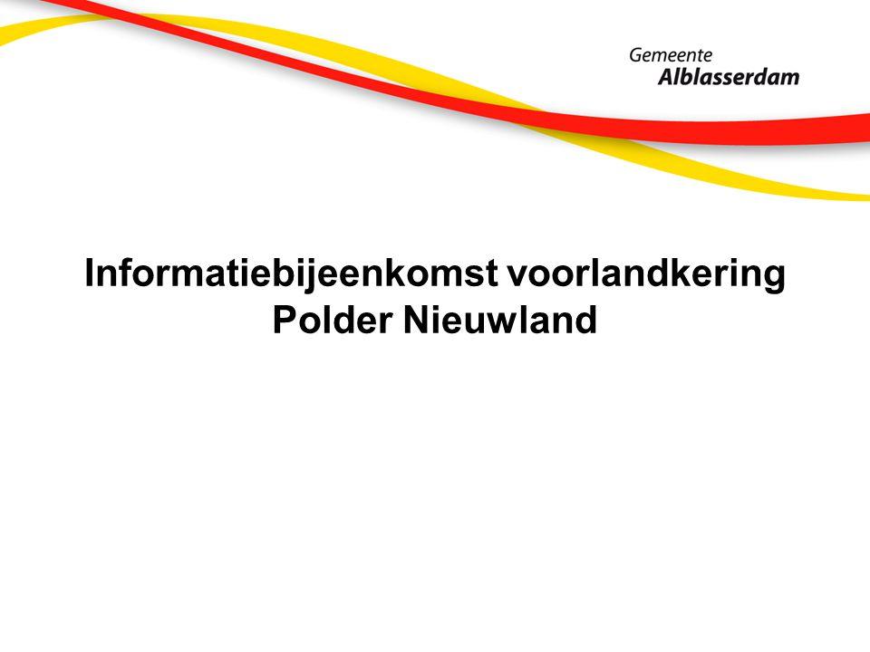 Informatiebijeenkomst voorlandkering Polder Nieuwland