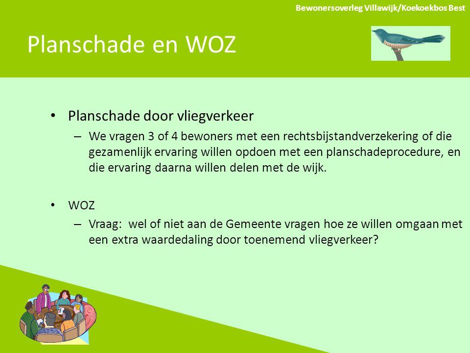 Planschade en WOZ Planschade door vliegverkeer – We vragen 3 of 4 bewoners met een rechtsbijstandverzekering of die gezamenlijk ervaring willen opdoen met een planschadeprocedure, en die ervaring daarna willen delen met de wijk.
