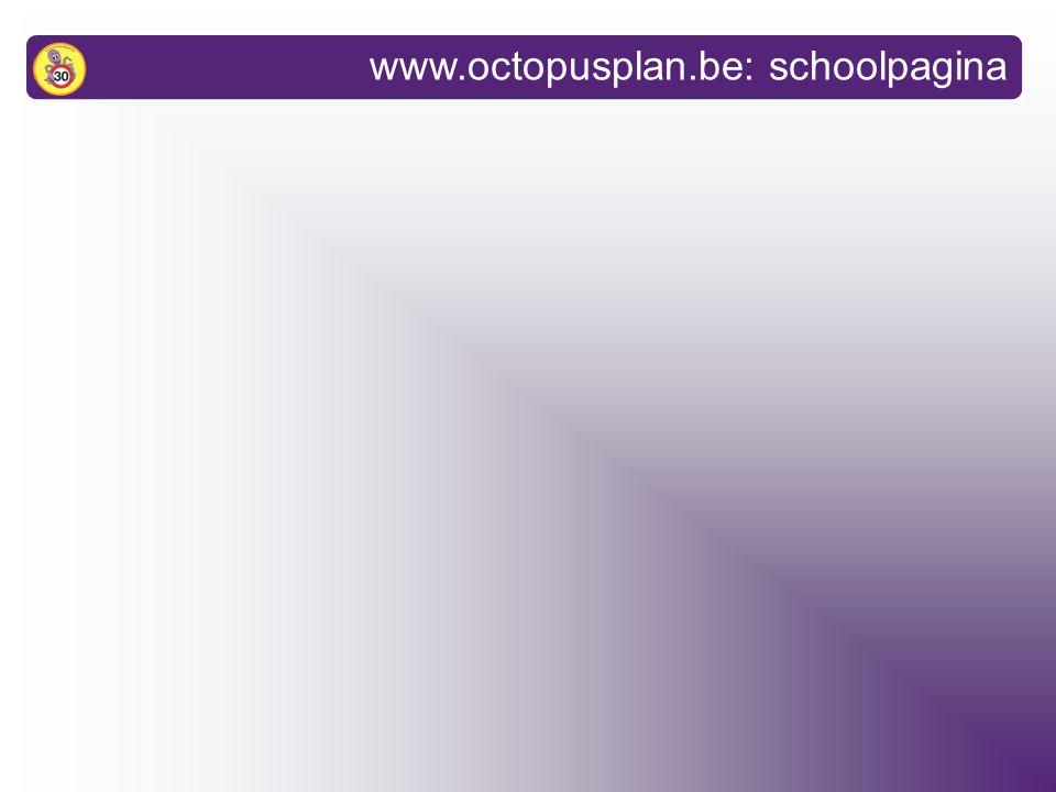 infovergadering Octopusplan 1.Wat is het Octopusplan? 2.Resultaten 3.Interesse om deel te nemen?