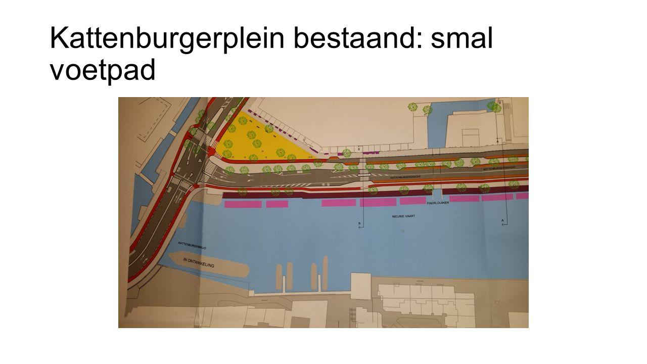 Kattenburgerplein bestaand: smal voetpad