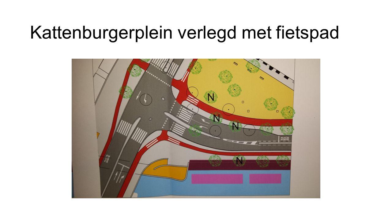 Kattenburgerplein verlegd met fietspad