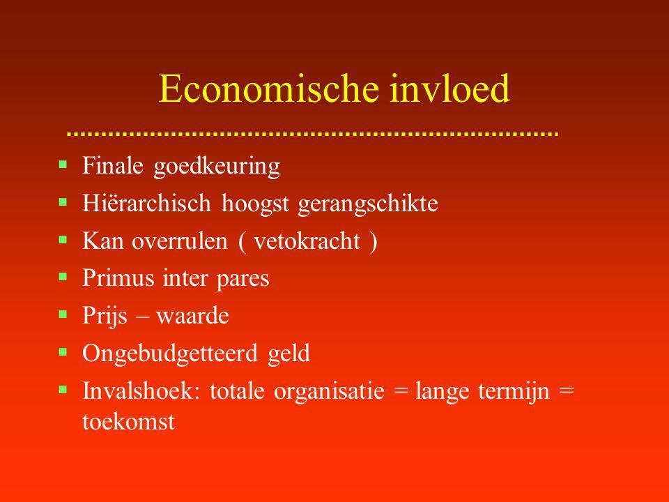Economische influence Van welk hiërarchisch niveau .