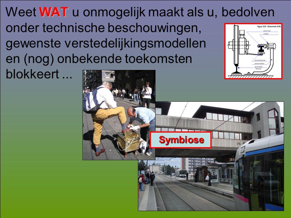 WAT Weet WAT u onmogelijk maakt als u, bedolven onder technische beschouwingen, gewenste verstedelijkingsmodellen en (nog) onbekende toekomsten blokke