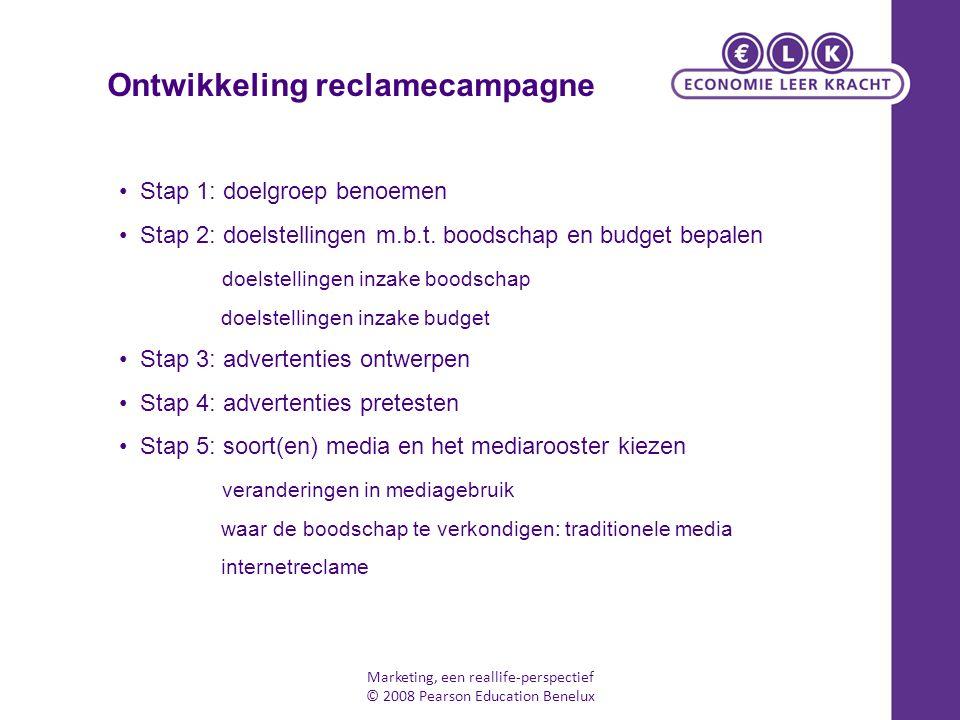 7 m's: 1.communicatiedoelgroep kiezen (market) 2.doelstellingen formuleren (mission) 3.budget vaststellen (money) 4.communicatiemix bepalen (mix) 5.boodschap ontwikkelen (message) 6.media kiezen (medium) 7.resultaten meten en bijsturen (measuring) USP: Unique Selling Proposition DAGMAR-model: Defining Advertising Goals for Measuring Advertising Results