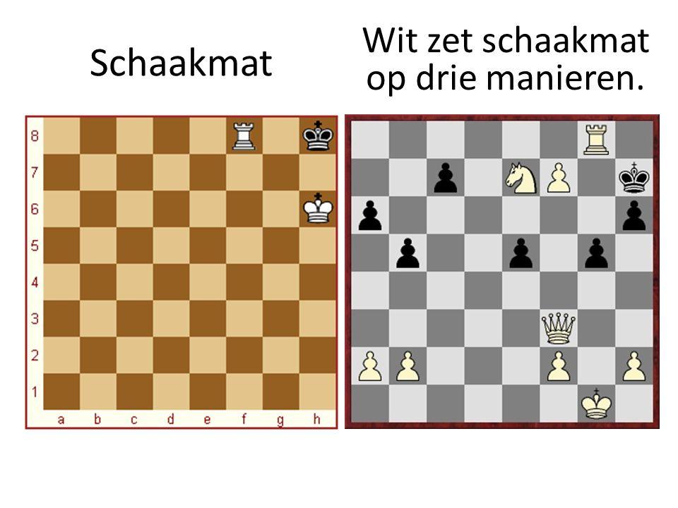 Schaakmat Wit zet schaakmat op drie manieren.