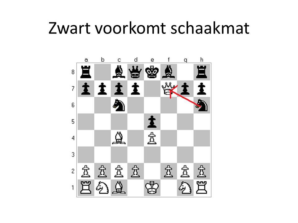 Zwart voorkomt schaakmat