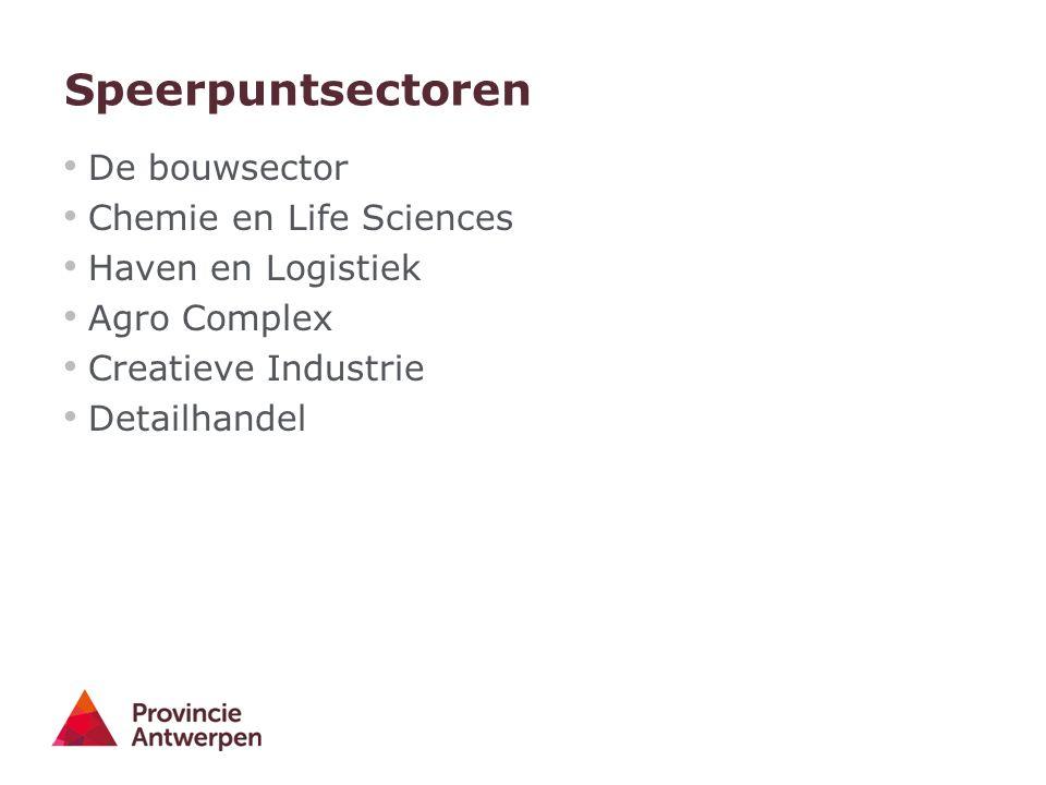 Speerpuntsectoren De bouwsector Chemie en Life Sciences Haven en Logistiek Agro Complex Creatieve Industrie Detailhandel