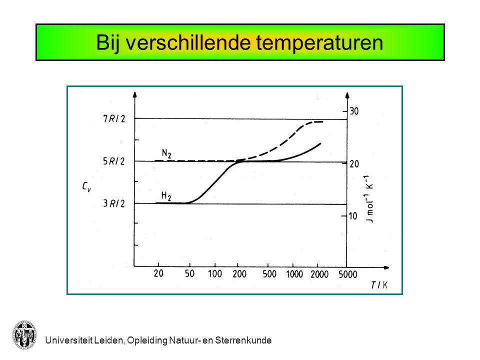Universiteit Leiden, Opleiding Natuur- en Sterrenkunde Bij verschillende temperaturen