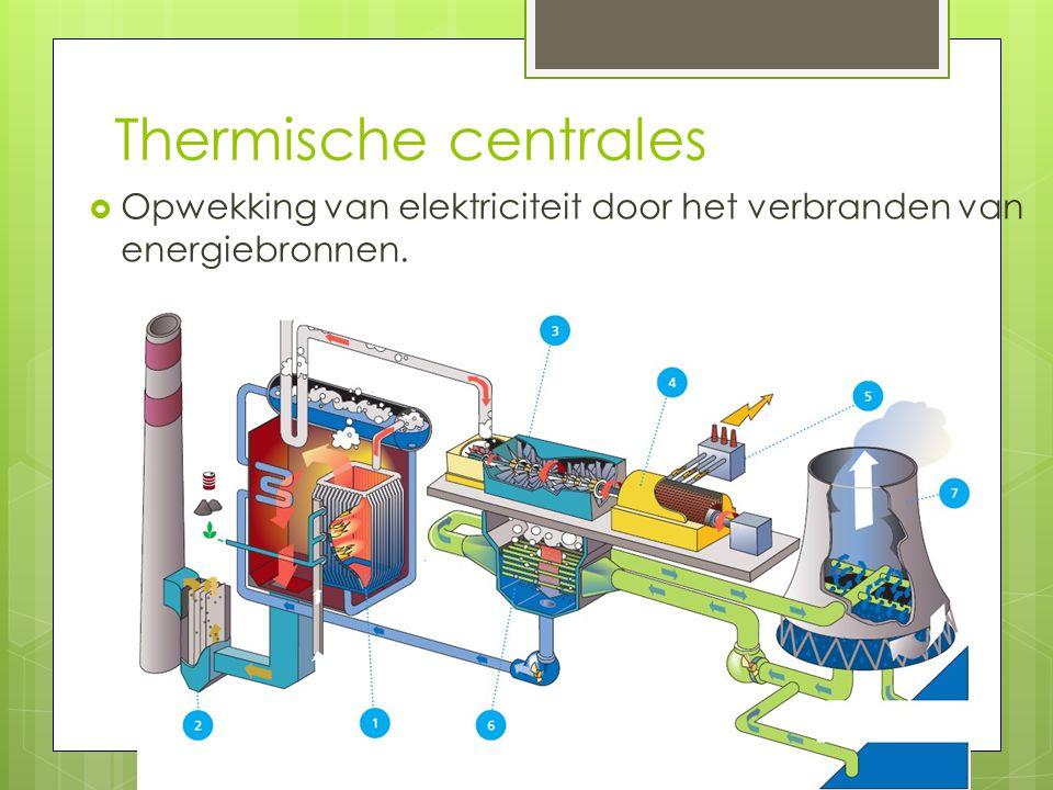 Elektriciteit op transport Elektriciteit wordt hier opgewekt in een centrale.