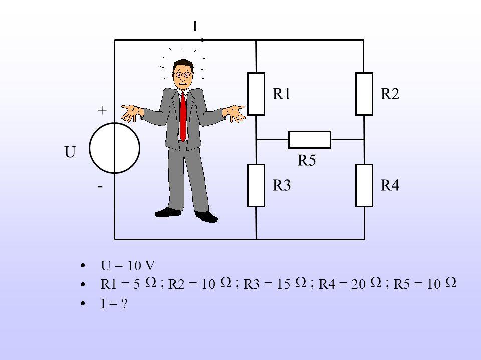 Voorbeeld R2 U - - I R3 R1 +