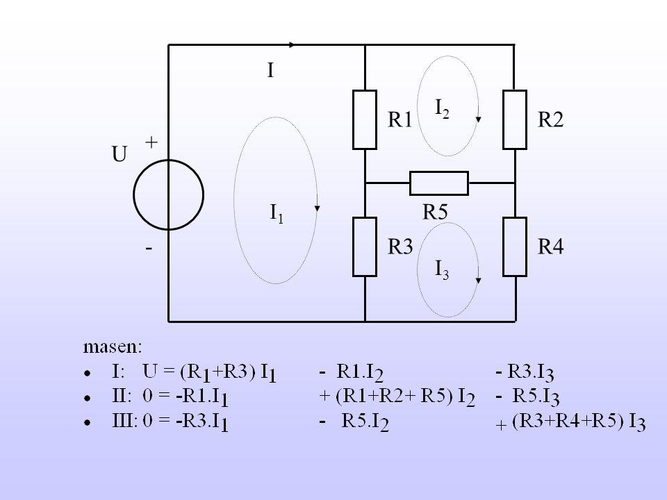 I R2R1 R3R4 R5 U + -  U = 10 V  R1 = 5  R2 = 10  R3 = 15  R4 = 20  R5 = 10   I = ?