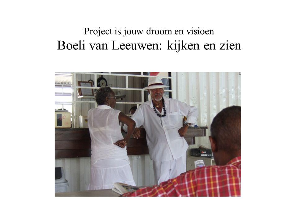 Project is jouw droom en visioen Boeli van Leeuwen: kijken en zien