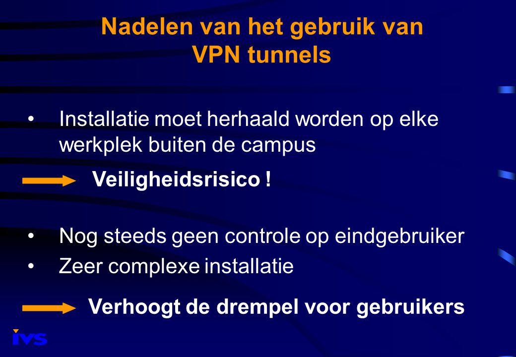 De IVS oplossing : VKC Toegang tot alle elektronische bronnen laten verlopen via een 'Virtual Knowledge Center' Gebruik is onafhankelijk van IP adres.