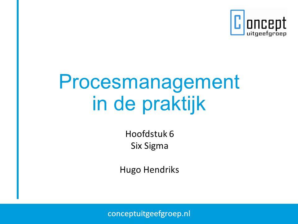 conceptuitgeefgroep.nl Procesmanagement in de praktijk Hoofdstuk 6 Six Sigma Hugo Hendriks
