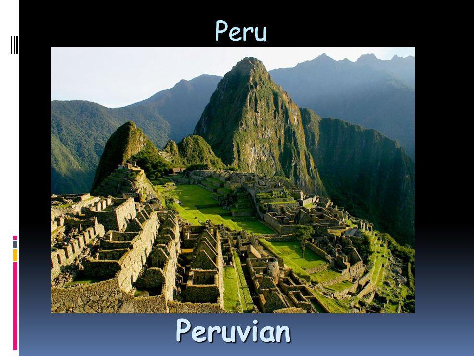 Peru Peruvian