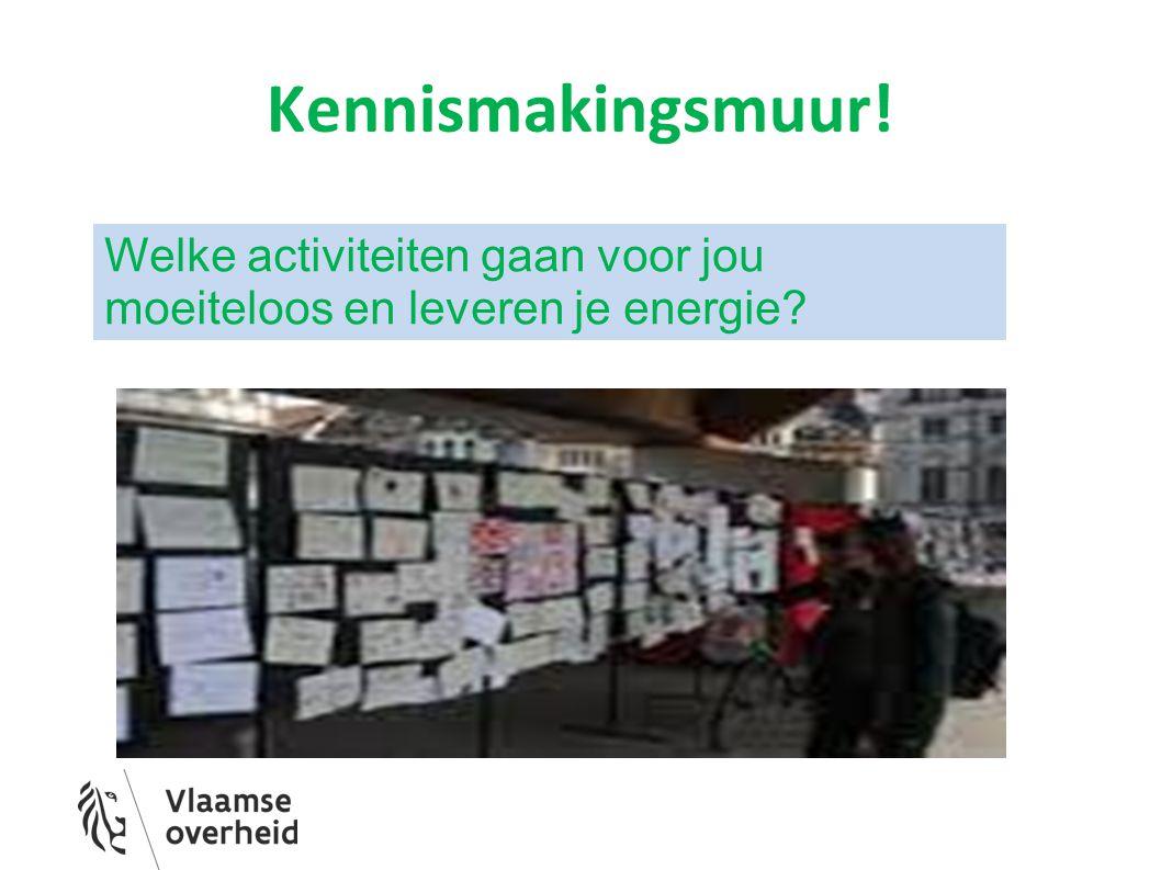 Kennismakingsmuur! Welke activiteiten gaan voor jou moeiteloos en leveren je energie?