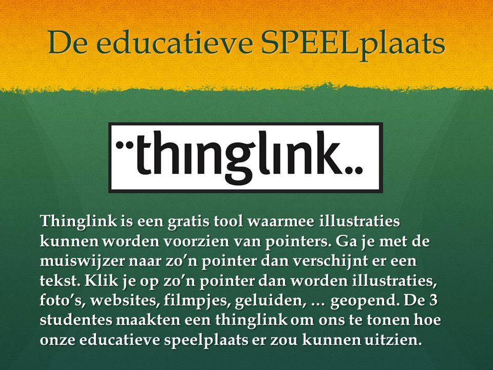 De educatieve SPEELplaats Thinglink is een gratis tool waarmee illustraties kunnen worden voorzien van pointers. Ga je met de muiswijzer naar zo'n poi