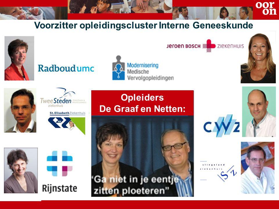 Opleiders De Graaf en Netten: Voorzitter opleidingscluster Interne Geneeskunde