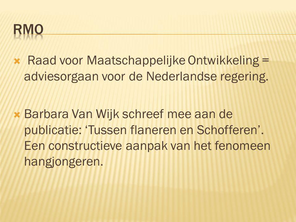  Raad voor Maatschappelijke Ontwikkeling = adviesorgaan voor de Nederlandse regering.