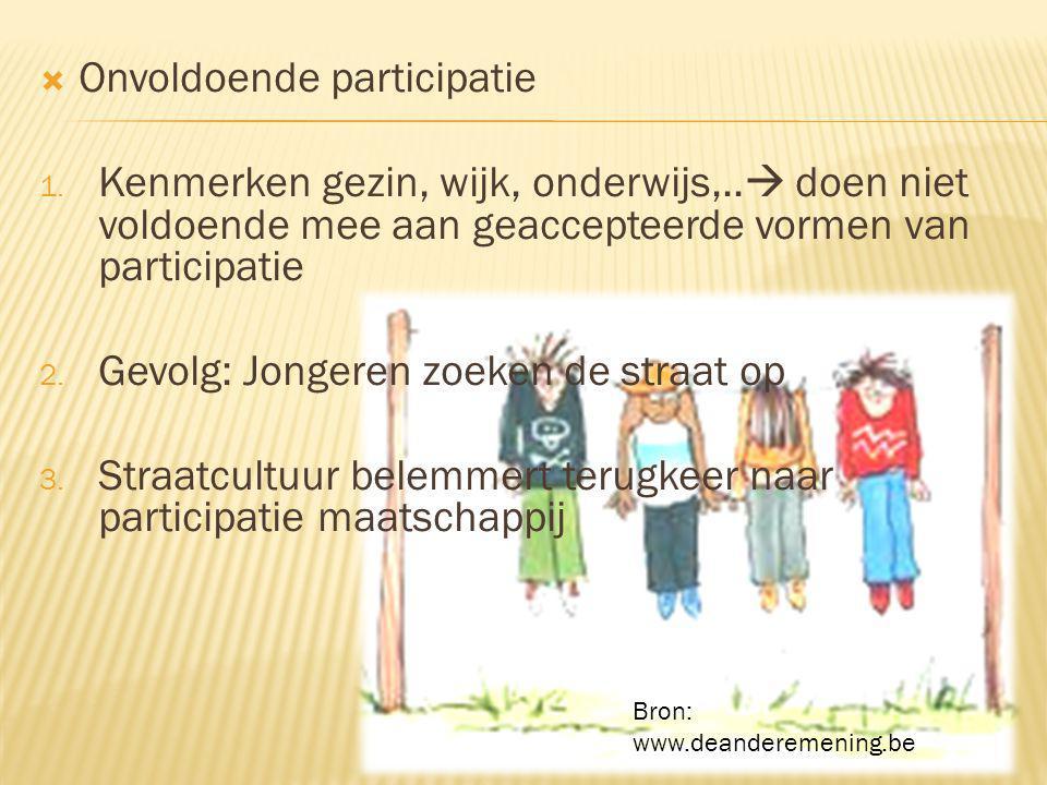  Onvoldoende participatie 1. Kenmerken gezin, wijk, onderwijs,..