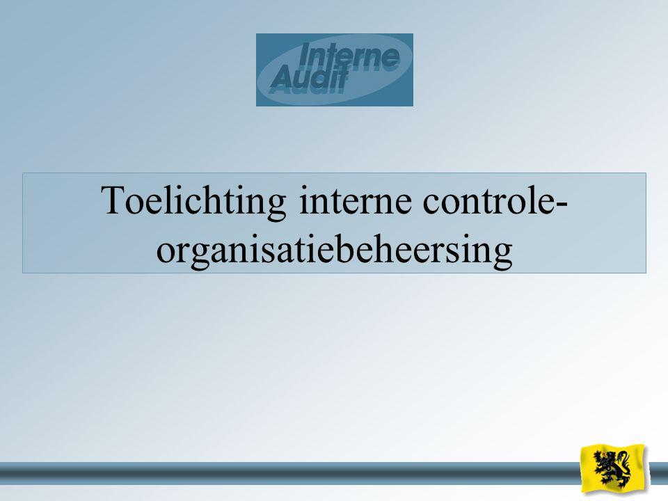 16 Toelichting interne controle- organisatiebeheersing
