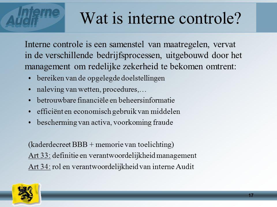 17 Wat is interne controle.
