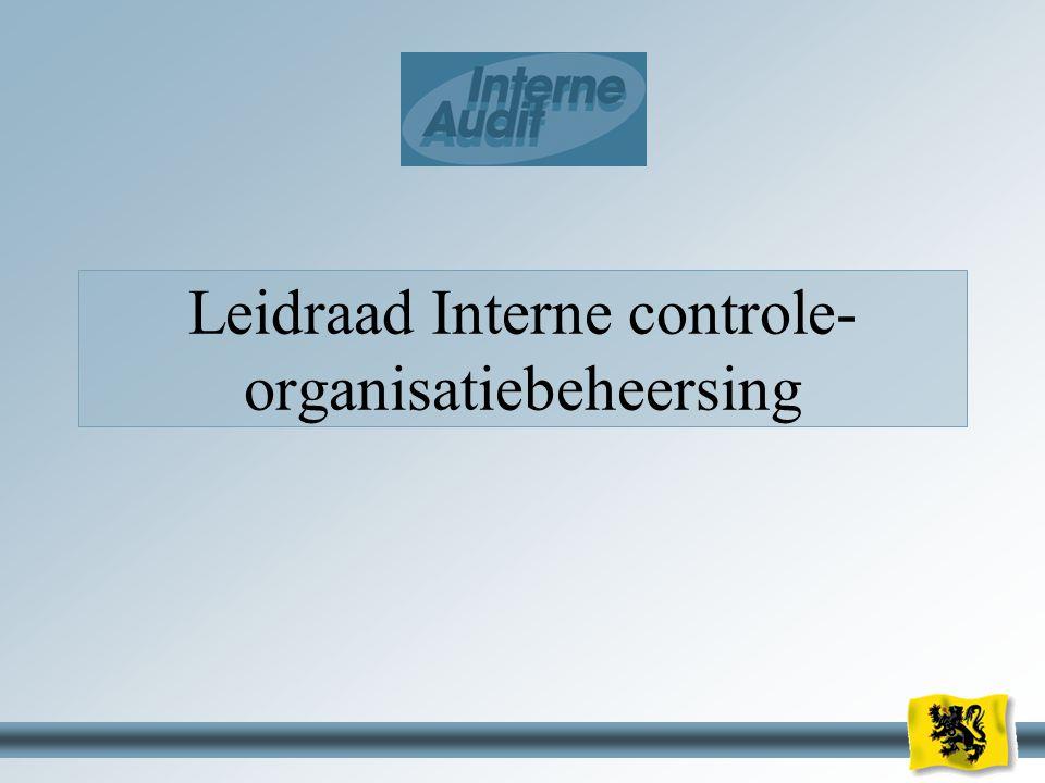 23 Leidraad Interne controle- organisatiebeheersing