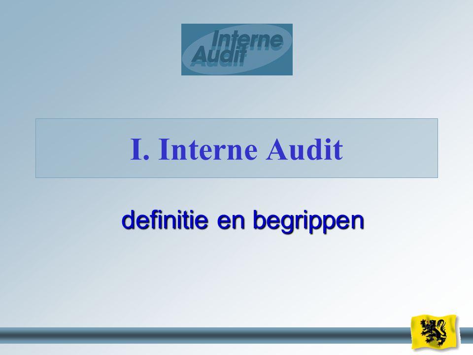 4 definitie en begrippen I. Interne Audit
