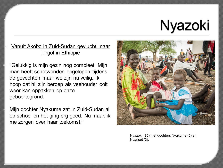  Vanuit Akobo in Zuid-Sudan gevlucht naar Tirgol in Ethiopië  Gelukkig is mijn gezin nog compleet.