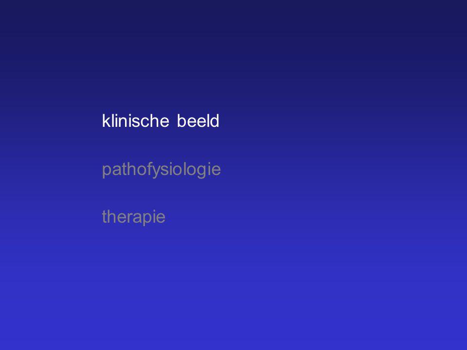 klinische beeld pathofysiologie therapie