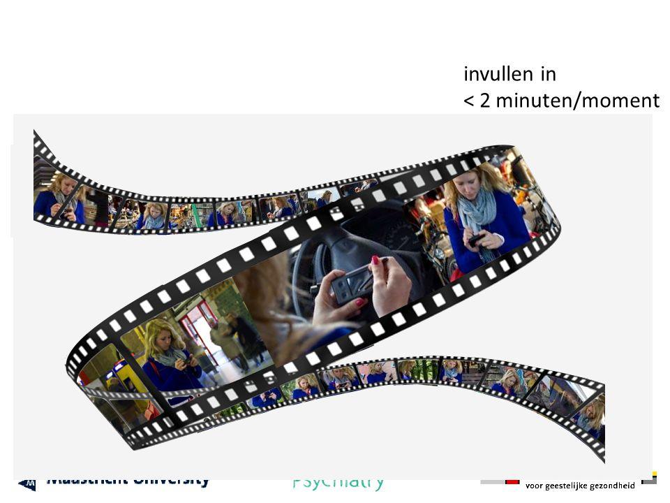 invullen in < 2 minuten/moment