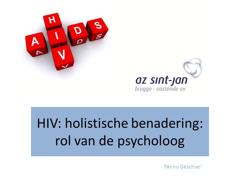 HIV: holistische benadering: rol van de psycholoog Fanny Geschier