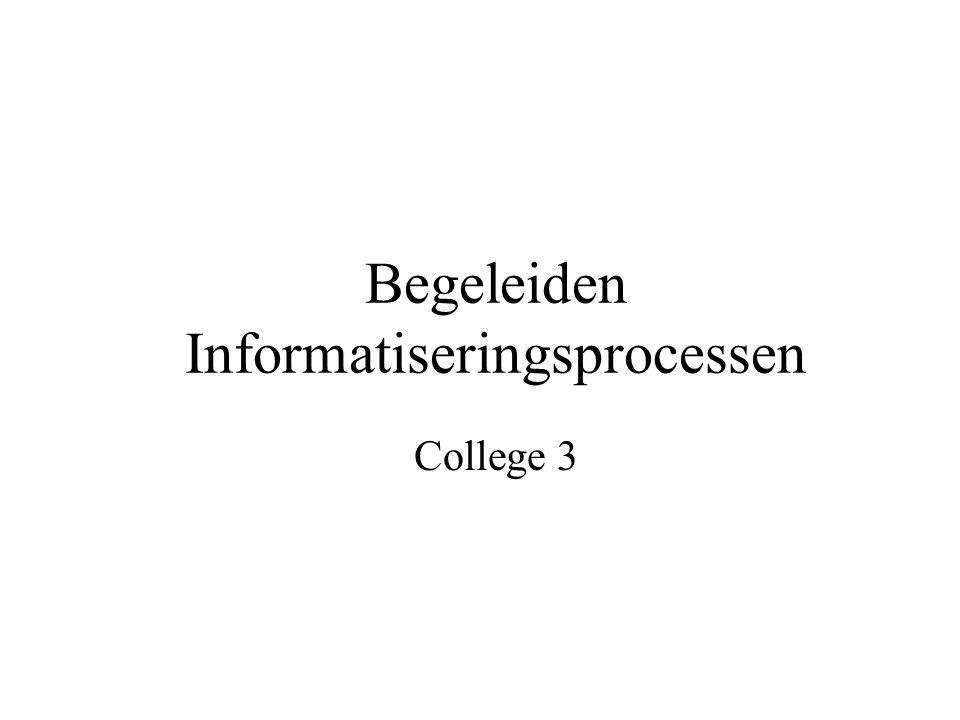 Begeleiden Informatiseringsprocessen College 3