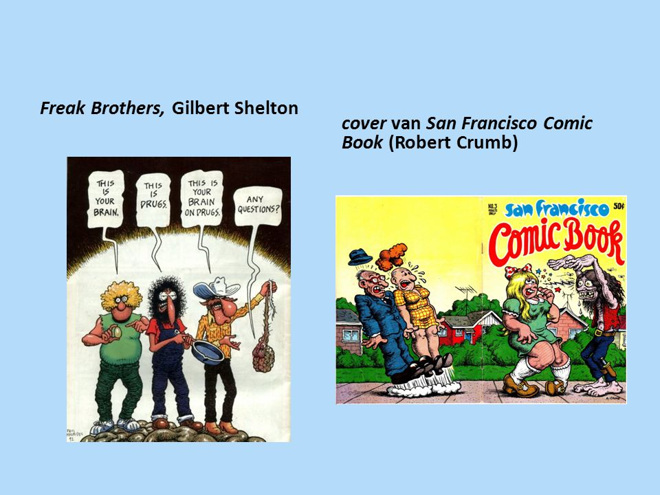 Freak Brothers, Gilbert Shelton cover van San Francisco Comic Book (Robert Crumb)