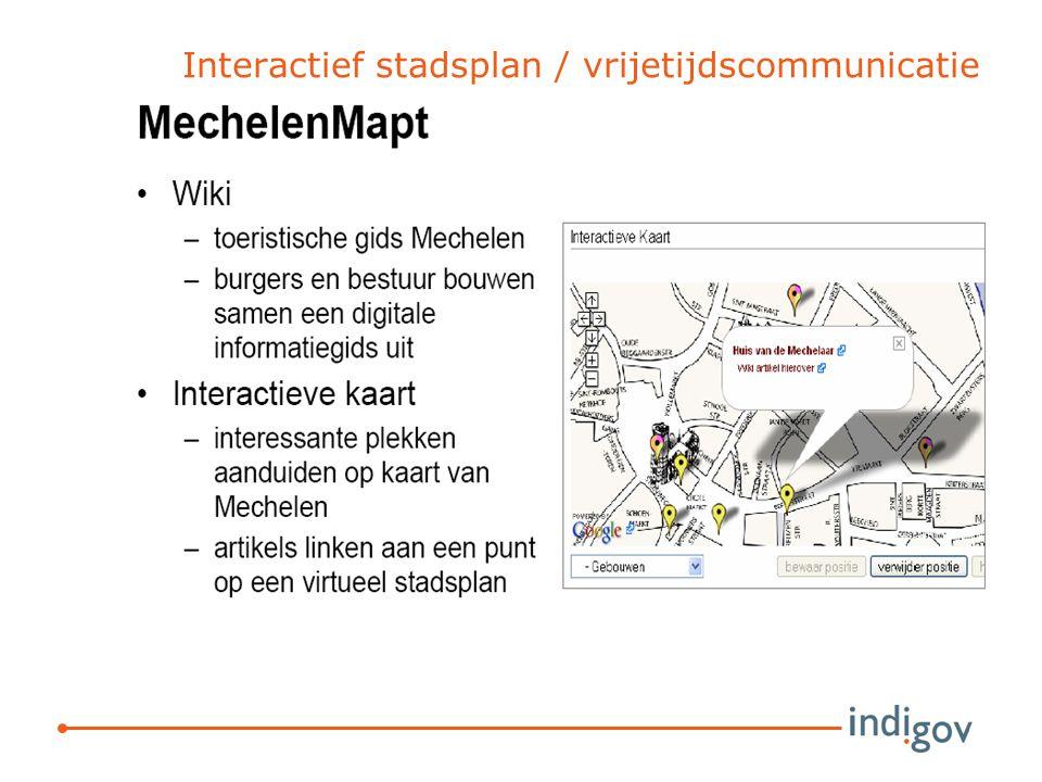 Interactief stadsplan / vrijetijdscommunicatie