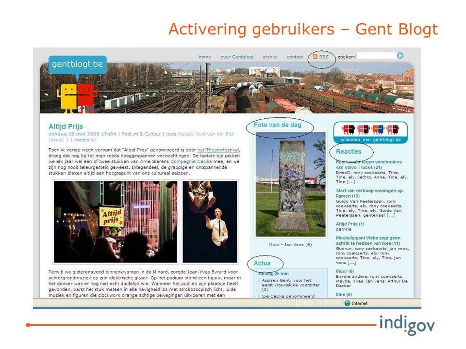 Activering gebruikers – Gent Blogt